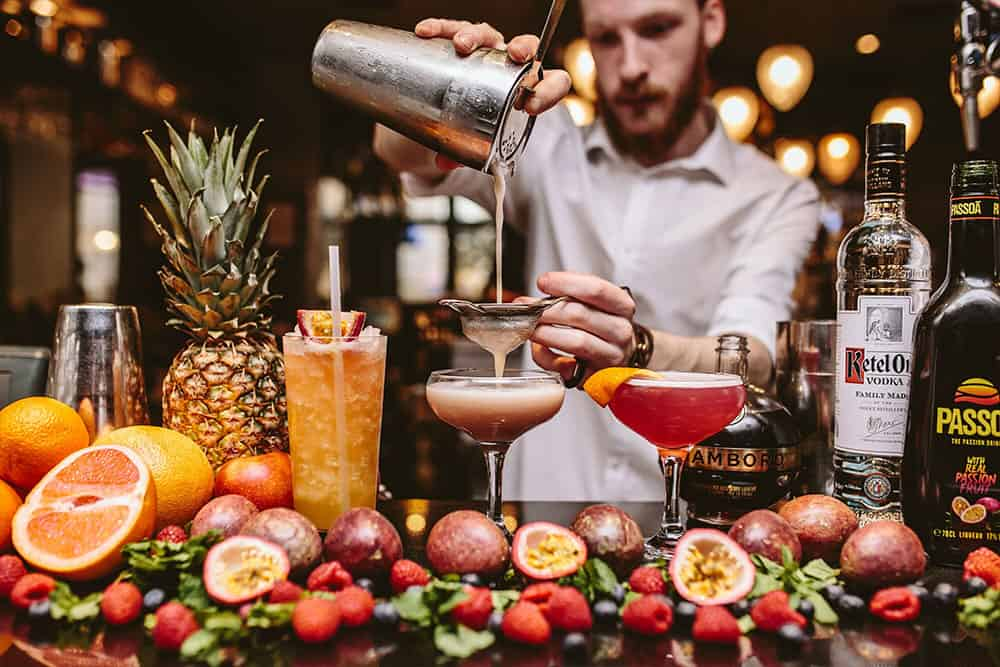 Beautiful cocktail list for our online cocktail classes