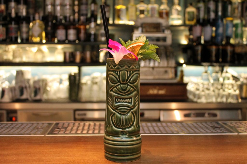Zombie cocktail served in a tiki mug