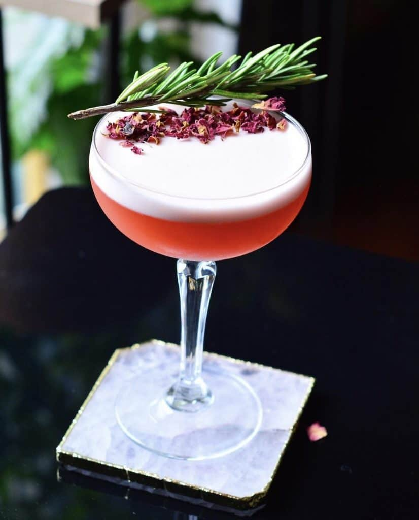 cocktail served on a mobile bar