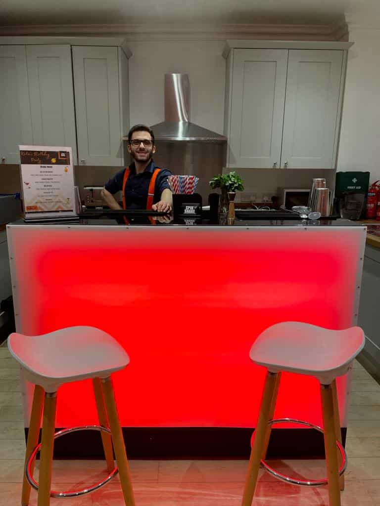 mobile bar hire kent set up for an event